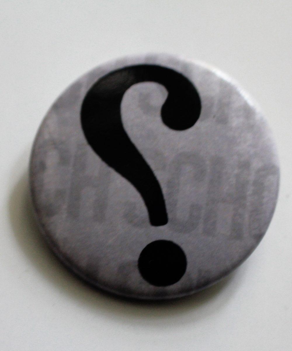 """Button """"Ironiezeichen"""""""